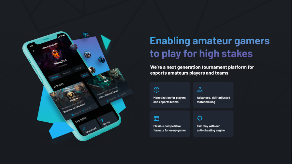 """Enabling amateur players to play for high stakes"""