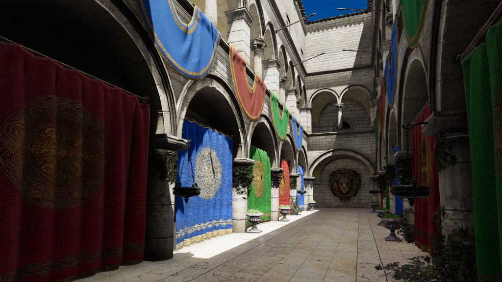 Sponza scene rendered with Atom.