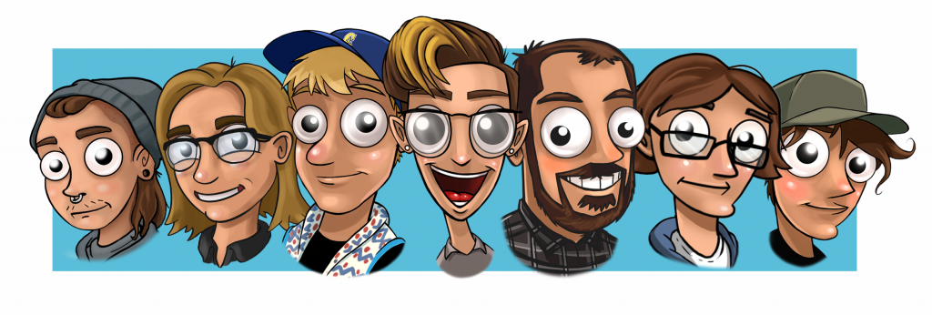 Leaftail Labs team as animated cartoon characters