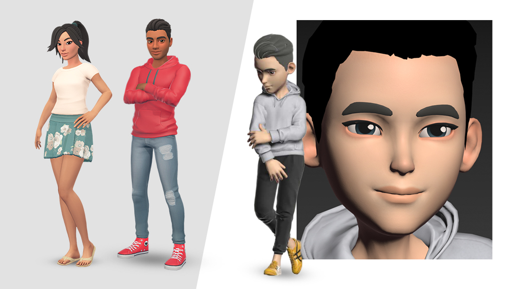 A selection of Tafi's WIP avatar styles