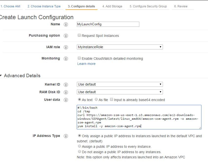 Configure Amazon EC2 Instances in an Auto Scaling Group