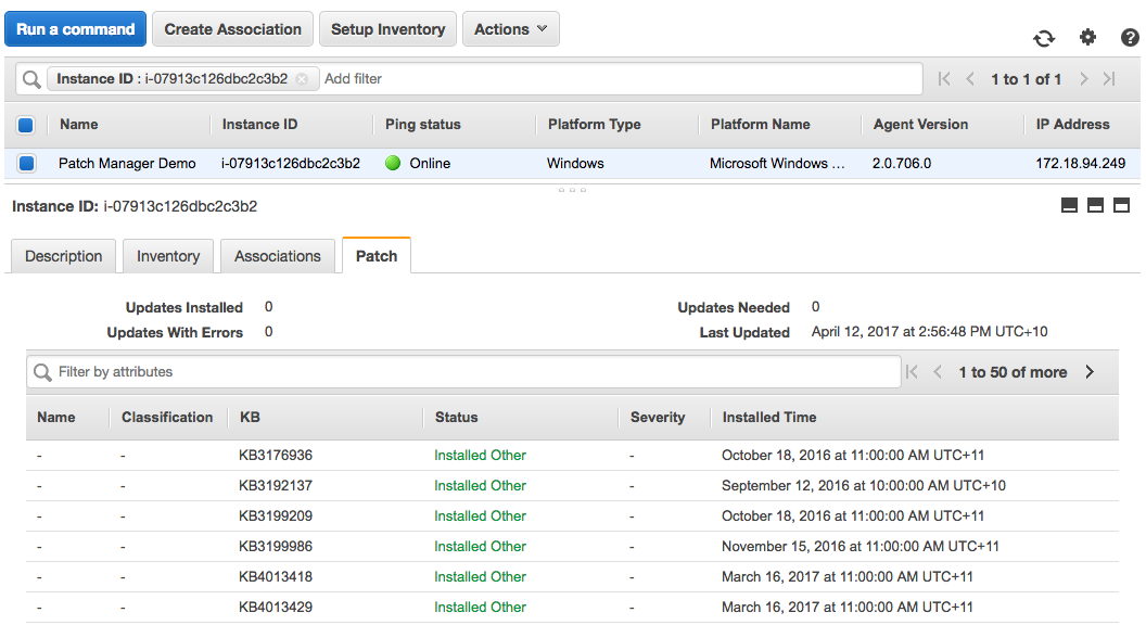 Getting Started with Patch Manager and Amazon EC2 Systems
