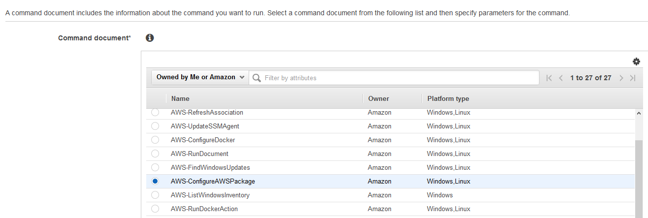 AWS-ConfigureAwsPackage to install VSS components