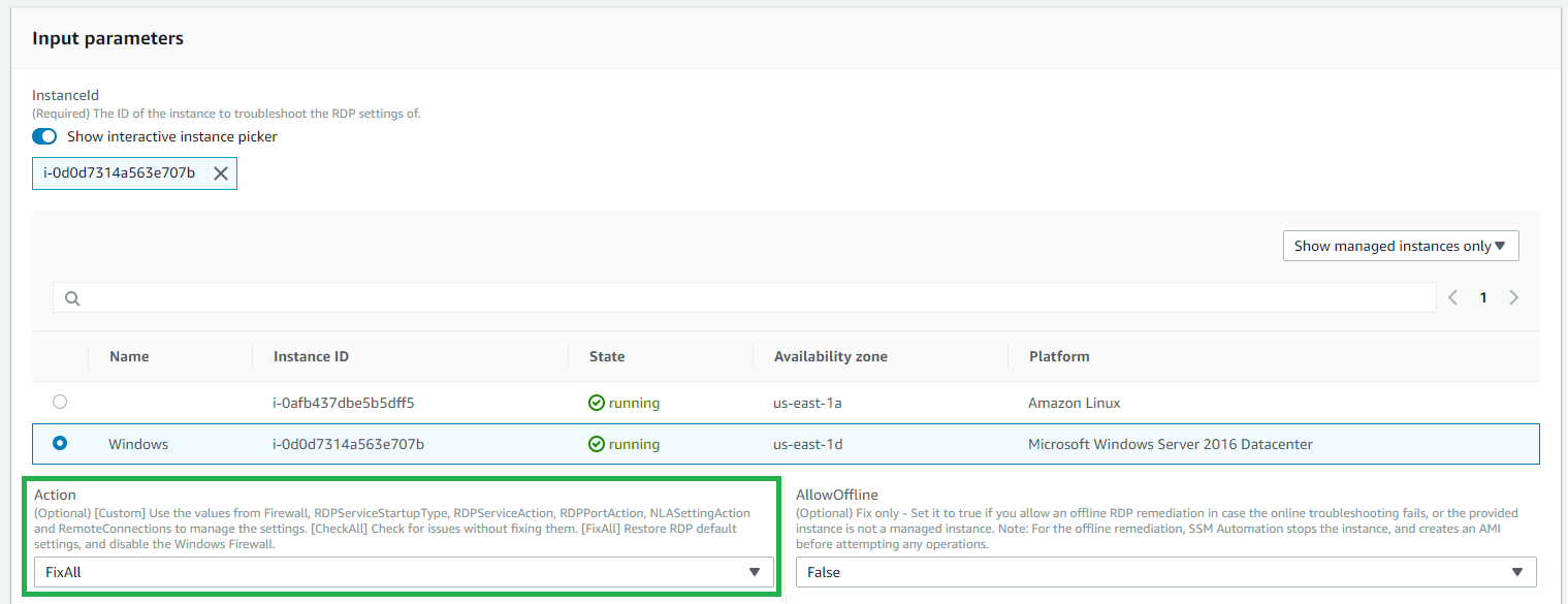 Smart RDP and SSH remediation with AWS Systems Manager