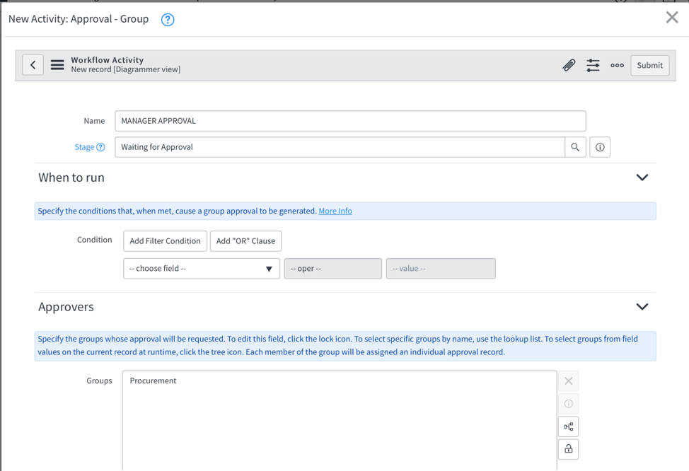 select approvers ServiceNow AWS Service Catalog