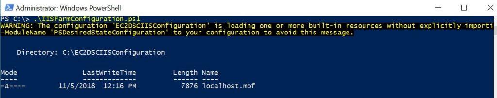 DSC Configuration Script