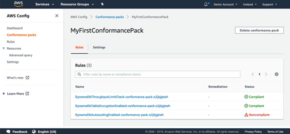 MyFirstConformancePack