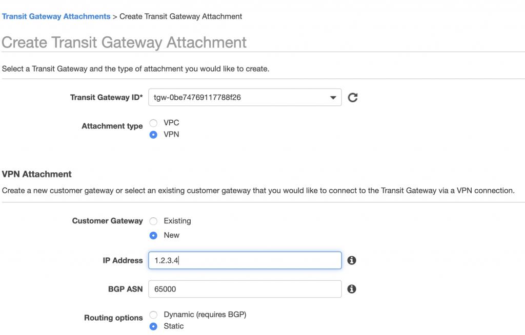 TGW VPN Attachment