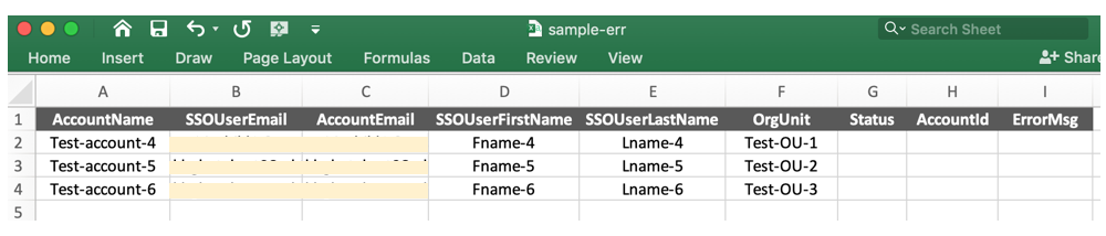sample-err.csv file with details of the accounts to be created