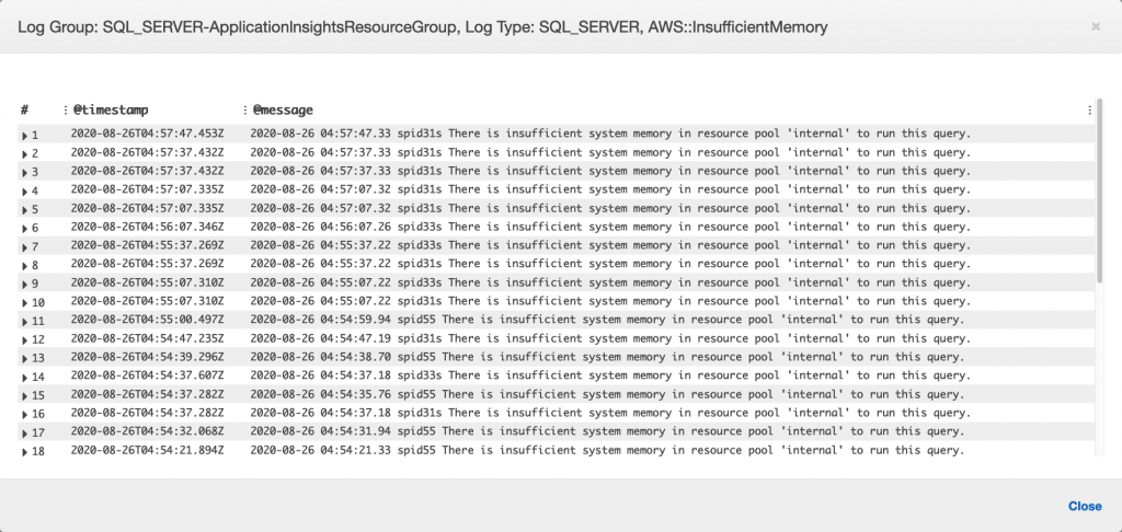 Error displayed in Log file