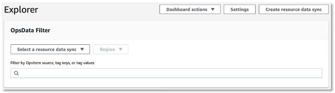 Create resource DataSync for OpsData filter