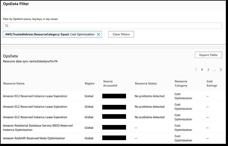 Generate reports in OpsData filter