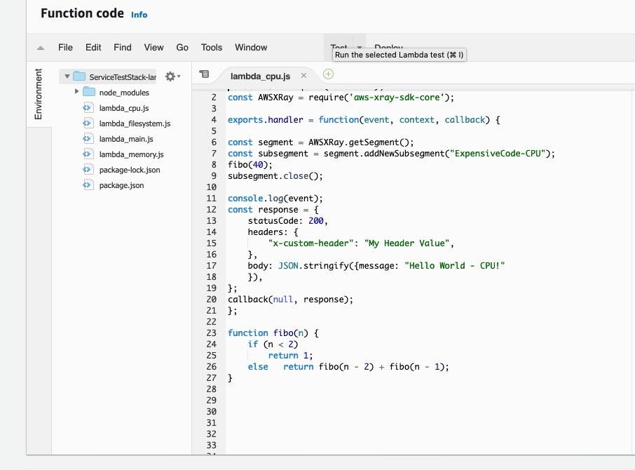 Viewing code of Lambda function from Lambda console
