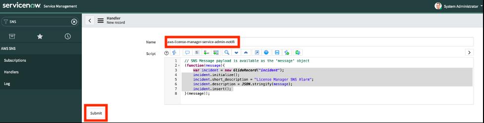 name and JavaScript code.