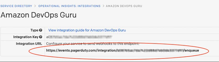 Copy the integration URL