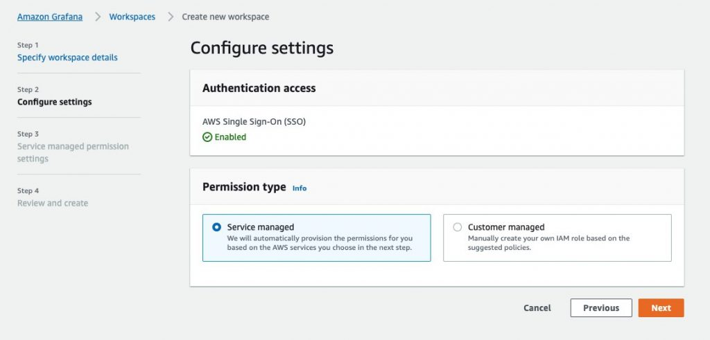 Configure AMG workspace settings