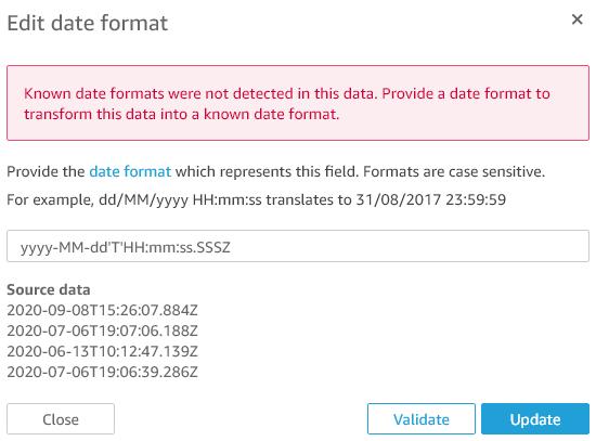 Figure 8: Edit date format