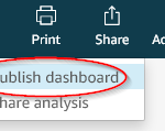 Figure 23: Publish dashboard