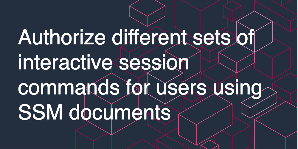Authorize different sets of interactive session commands for users using SSM documents