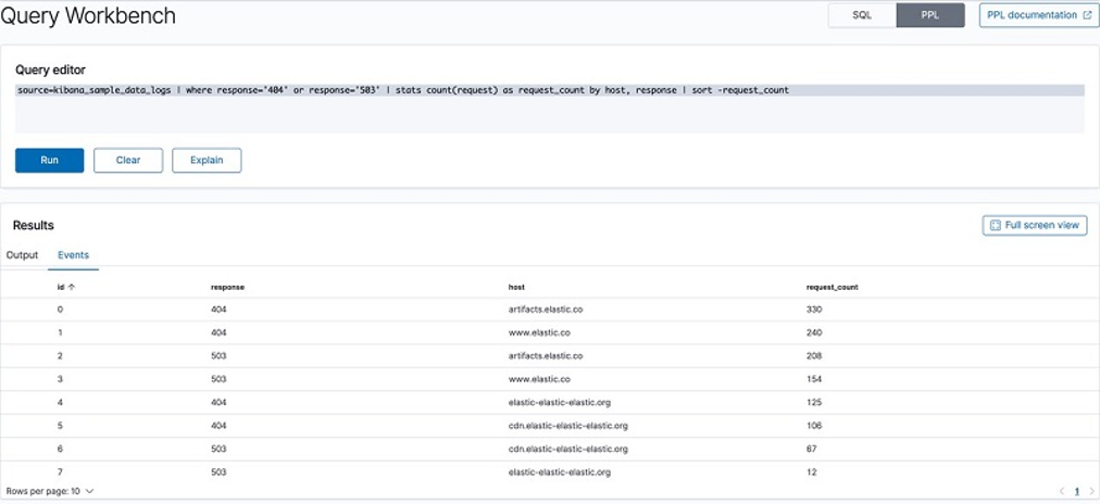 Query Workbench