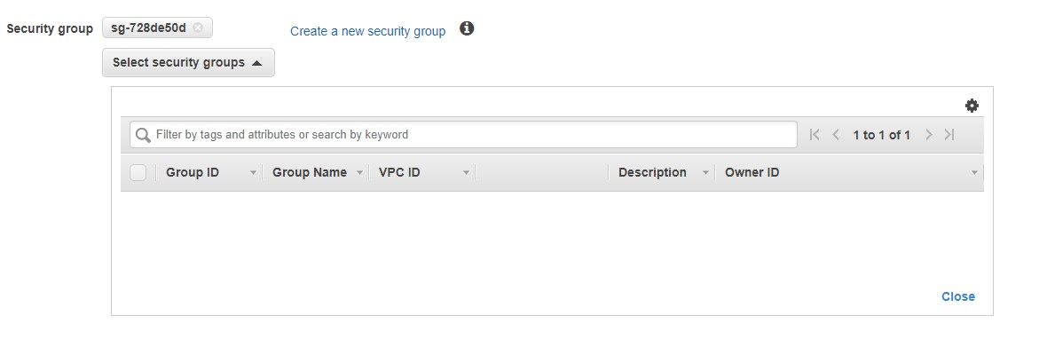 Security group section of the Create Endpoint page includes options to select or create a security group and a search field.