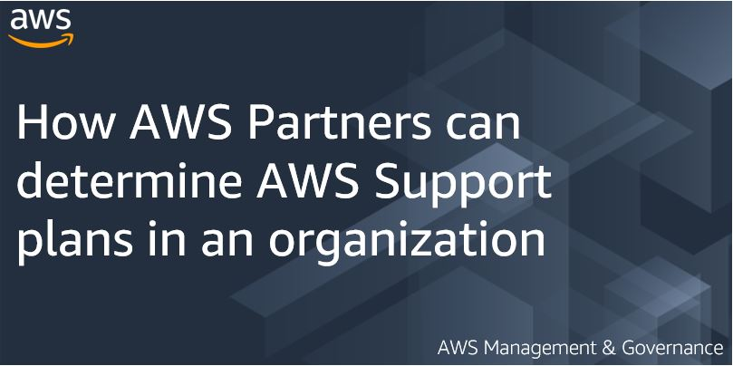 How AWS Partners can determine AWS Support plans in an organization