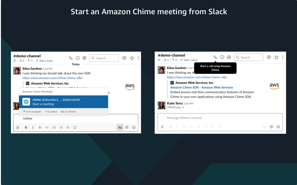 start a meeting from Slack