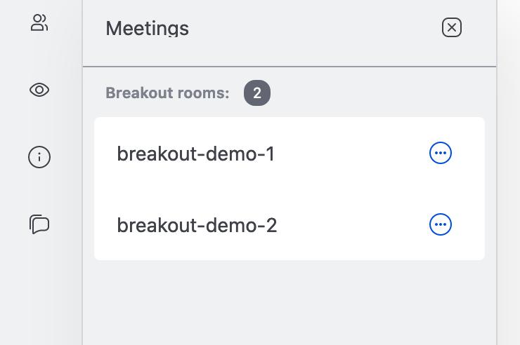 breakout rooms list
