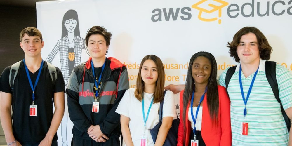 Students at AWS Educate San Francisco cloud degree announcement