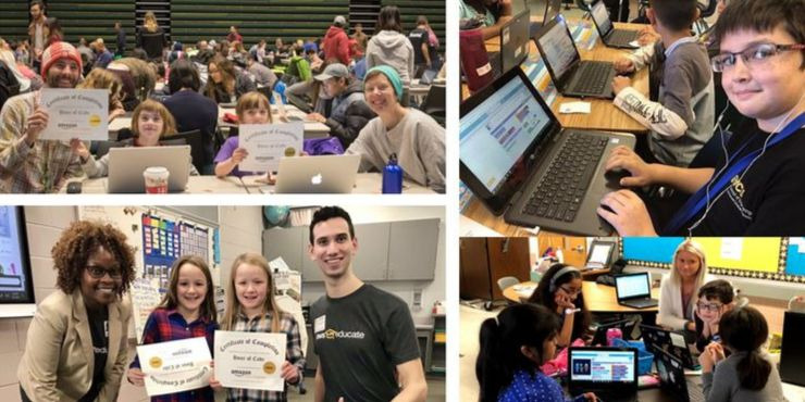 Hour of Code 2019 photo collage