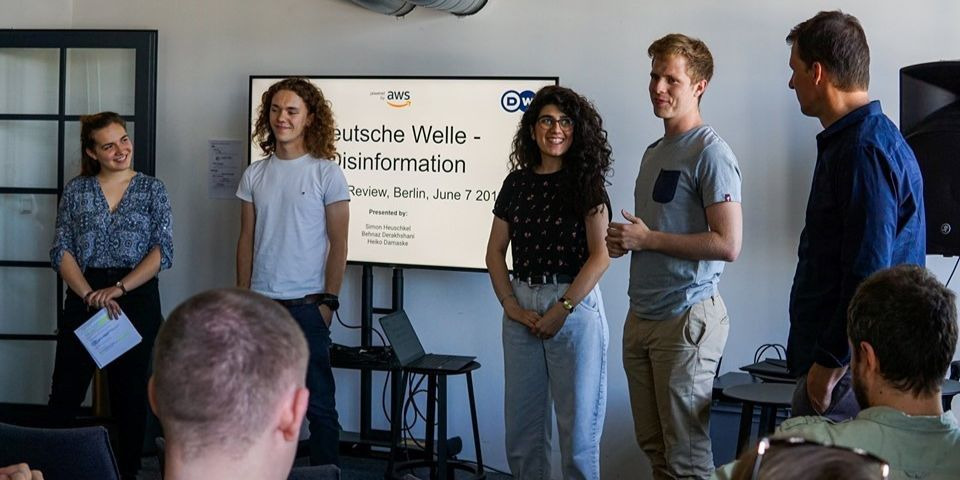 CODE U CIC team presents to Deutsche Welle