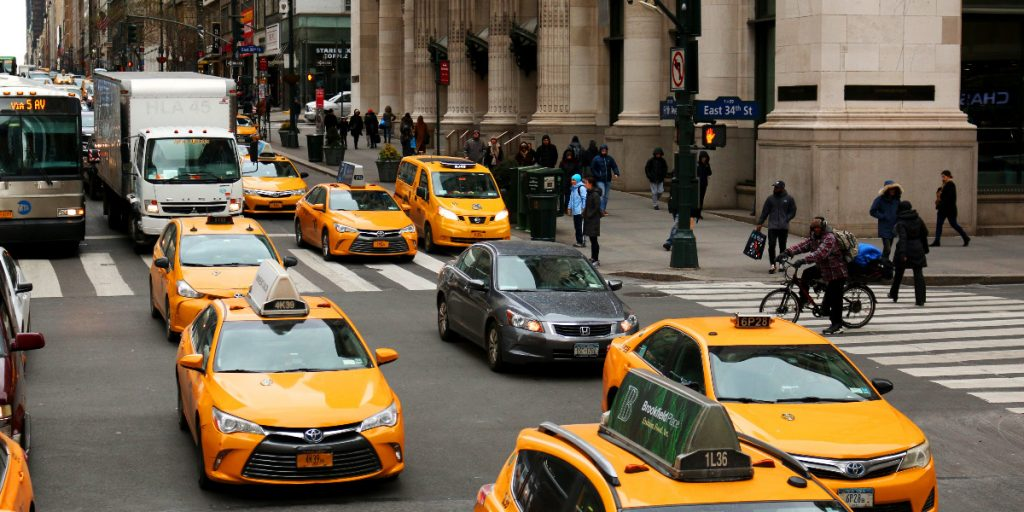 NYC traffic in midtown