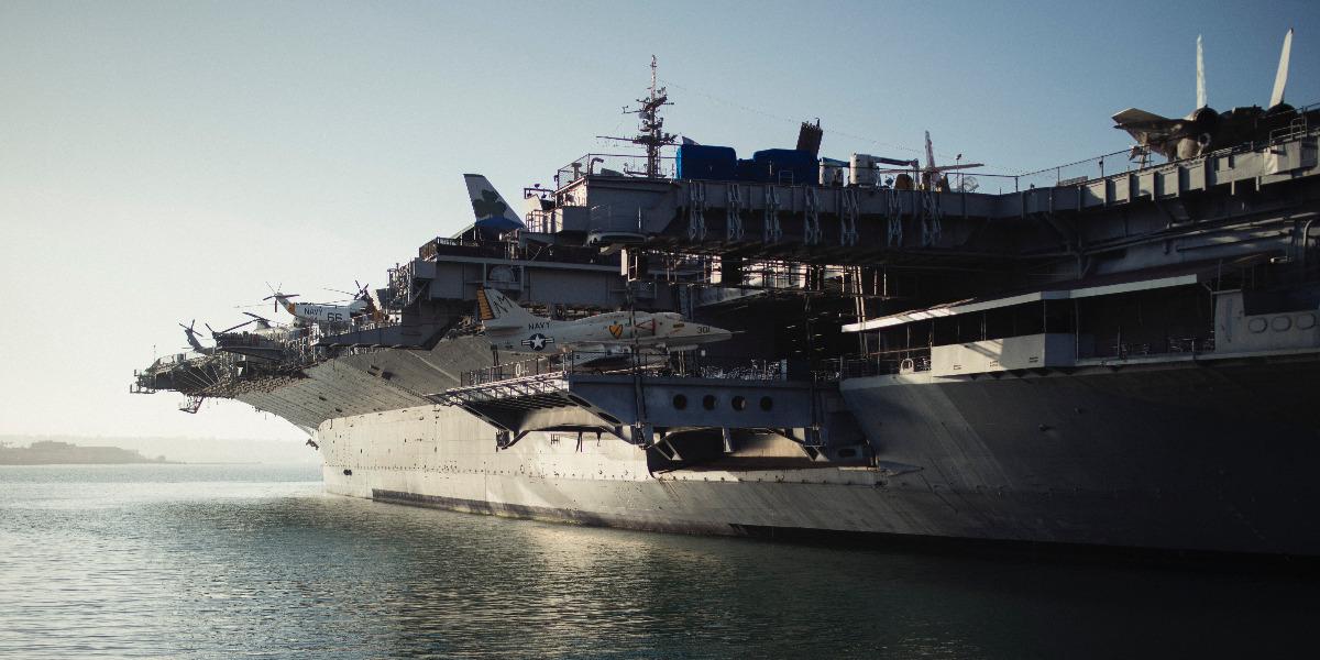 Navy warship at sea; photo by Michael Afonso on Unsplash