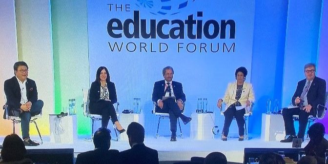 Education World Forum panel AWS Andrew Ko