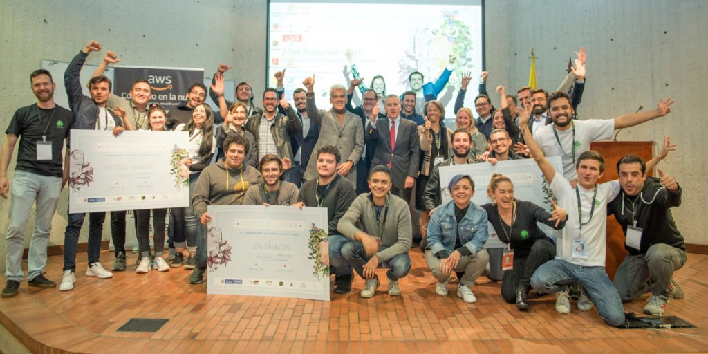 Colombia Zoo Hackathon 2020 winners who identified solutions to tackle deforestation and illegal logging using technology