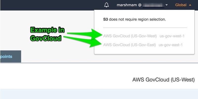 Amazon S3 example in AWS GovCloud (US)