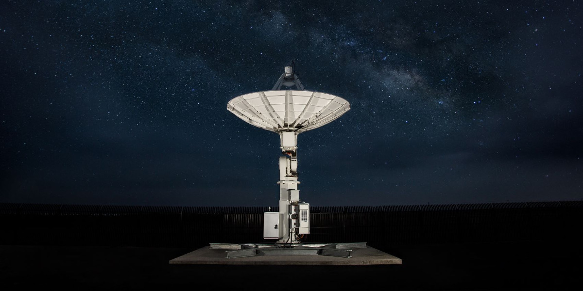 satellite at night