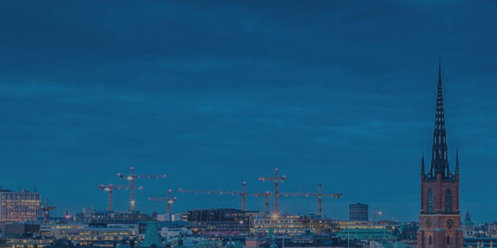 Sweden skyline at dusk