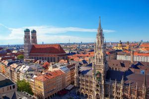 aerial view of city of Munich