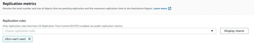 Replication metrics