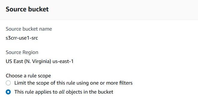 Source bucket scope