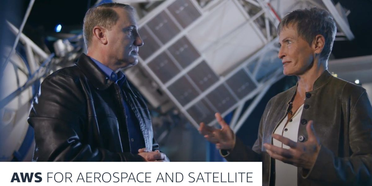 Astronaut Peggy Whitson and Clint Crosier discuss AWS aerospace and satellite