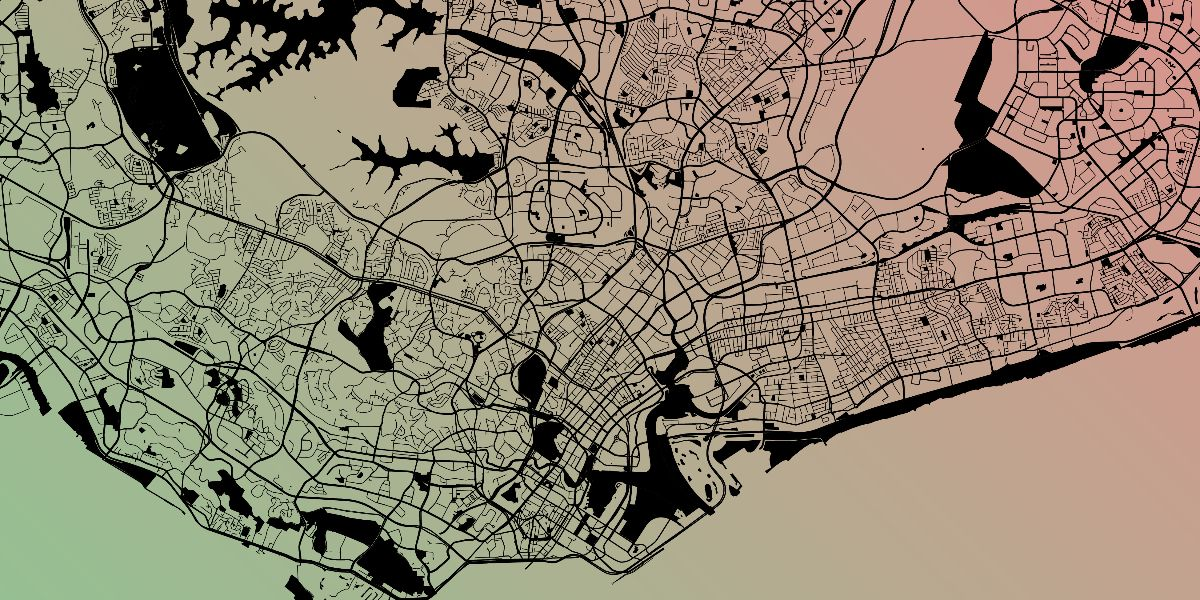 aerial street map Singapore