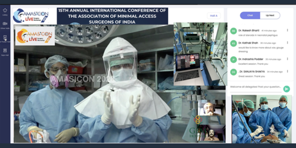 Dr C Palanivelu, Chairman, Gem Hospital & Research Center, addressing the audience during the virtual conference