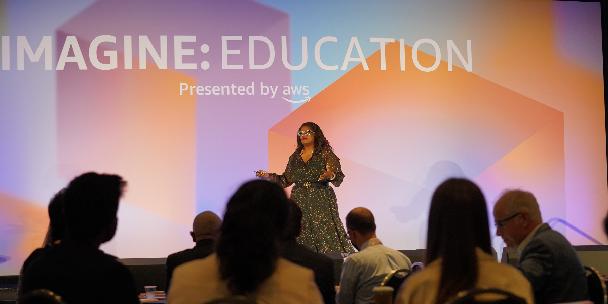 Kathryn Finney, CEO and founder of Genius Guild, inspires IMAGINE attendees to innovate in the face of the seemingly impossible