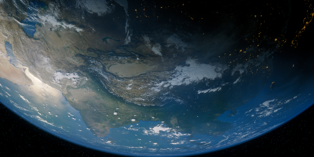 view of earth Asia