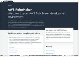 AWS RoboMaker's sample applications available with one-click in AWS Cloud9