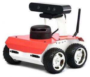 A picture of Husarion's ROSBot autonomous robot platform