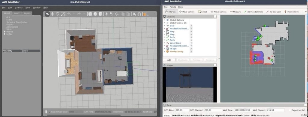 AWS RoboMaker simulation job