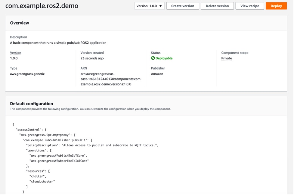 Create component summary page.